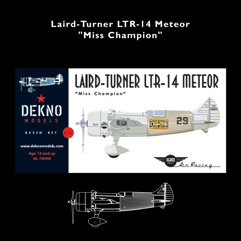 LAIRD-TURNER LTR-14 Miss Champion  Scale Model kit