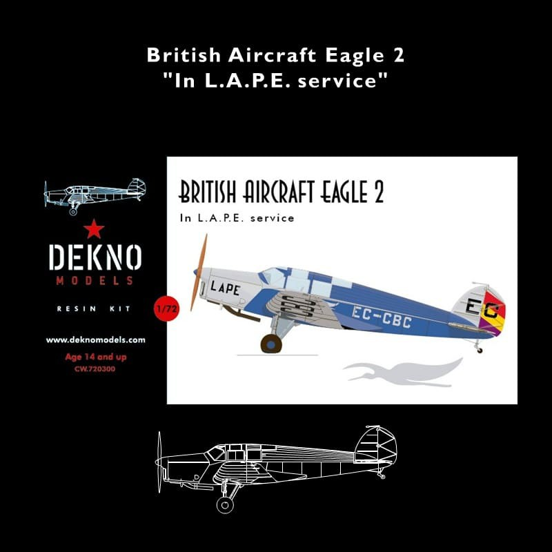 B.A. Eagle 2, 1/72 scale model kit