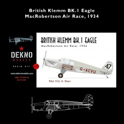 British Klemm BK.1 Eagle -...