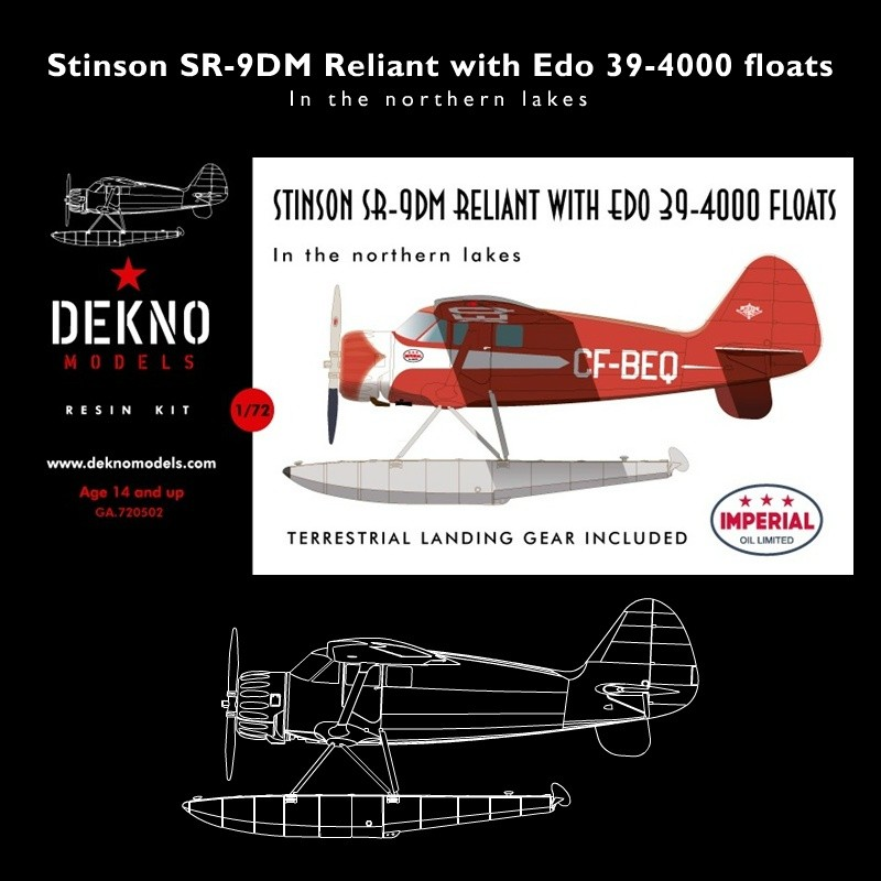 1/72 Scale model resin kit, 52 resin parts, 4 clear resin parts 1 vacuum  part, the includes the Edo 39-4000 floats and standard