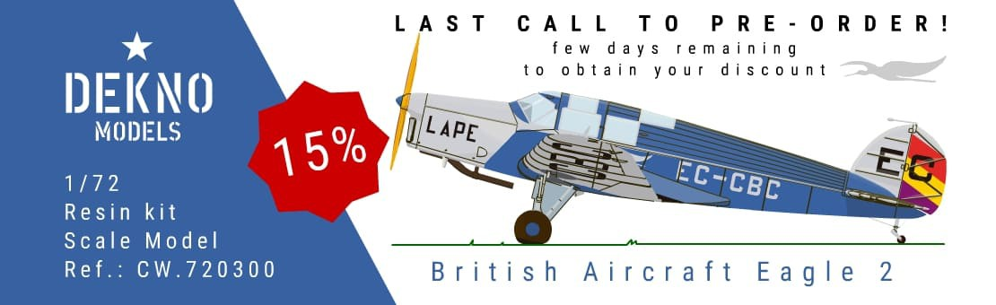 1/72 in preparation British Aircraft eagle 2 LAPE